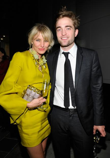 From left, Cameron Diaz and Robert Pattinson.