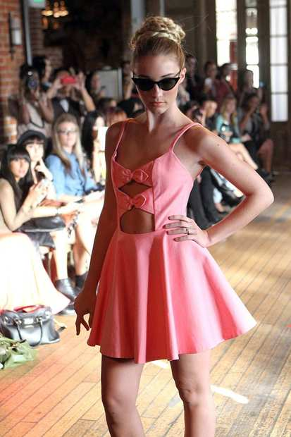 A look from Jen Awad's spring 2013 presentation shown at the Carondelet House.