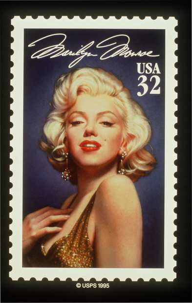 The Marilyn Monroe stamp.