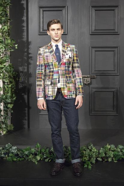 Fashion magazines advised readers on how to mismatch prints, and blue jeans were covered in a riot of pattern and color. Designers put their best prints forward, with florals, foliage, paisleys, plaids, houndstooth checks and photo-realistic effects, all in an effort to stand out from the pack. Pictured is a look from Paul + Williams.