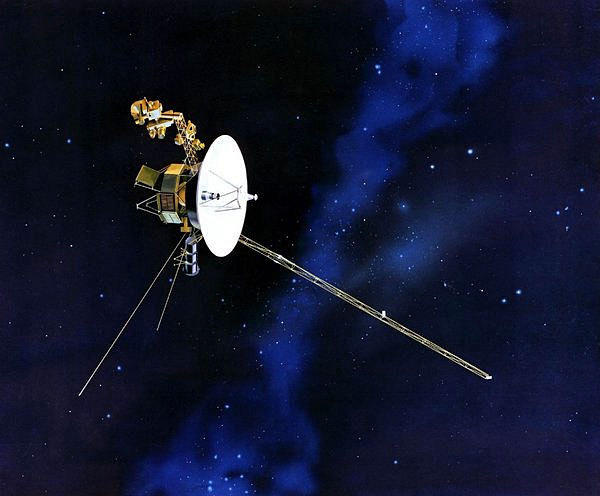 An artist's rendering shows one of the twin Voyager spacecraft launched in 1977. Scientists said this year that Voyager 1 is poised to leave the solar system and enter interstellar space.