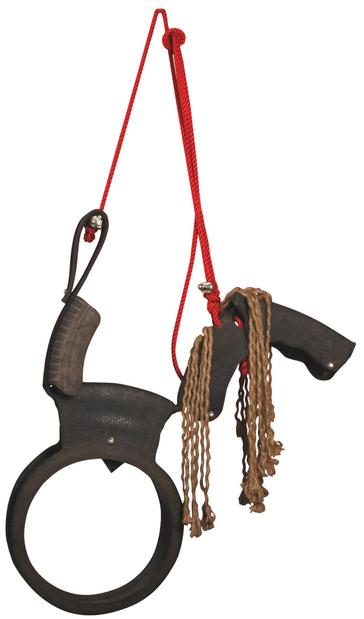 For the eco-kid, how about a horse swing made from a recycled tire? The Dutch design comes with a heavy-duty rope tie in festive red. 