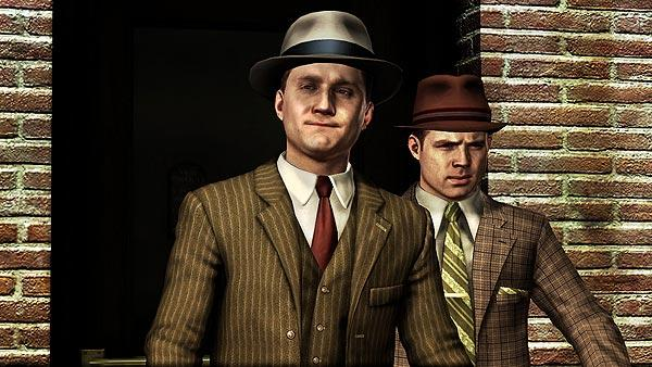 Actor Aaron Staton (left) in a scene from the upcoming video game.