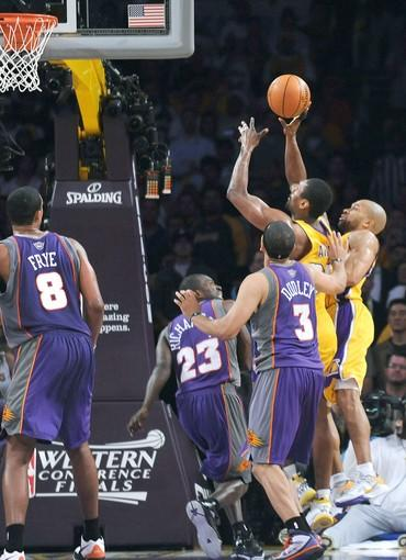 "The setting: <a href=""http://projects.latimes.com/lakers/player/ron-artest/"">Artest</a> rebounded a Kobe Bryant miss and put in an off-balance follow as time expired to give the Lakers a 103-101 victory at Staples Center.<br> <br> The significance: Not only did the shot give the Lakers a 3-2 series lead, it provided Artest with instant redemption. With a minute left in the game and the Lakers ahead by three points, Artest missed a 20-footer and a three-point shot that he took with 22 seconds left on the shot clock. Artest's winner was only his second basket of the game. The Lakers won the series in six games."