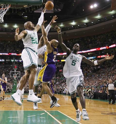 "The setting: The Lakers led the Celtics by four points when <a href=""http://projects.latimes.com/lakers/player/derek-fisher/"">Fisher</a> grabbed a rebound of a missed three-point shot by Ray Allen, dribbled the length of the court and laid the ball in over three Celtics with 48.3 seconds remaining in Boston. Fouled on the play, Fisher made the free throw for an 87-80 lead.<br> <br> The significance: The Lakers' 91-84 victory gave them a 2-1 series lead and allowed them to regain home-court advantage after losing Game 2 at Staples Center. Fisher scored 11 of his 16 points in the fourth quarter and helped hold Allen to two points on 0-for-13 shooting. Said Celtics Coach Doc Rivers: ""[Fisher] won the game for them."""