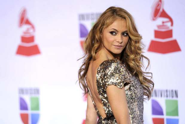 Mexican singer-actress Paulina Rubio lands at the 2011 Latin Grammy Awards.