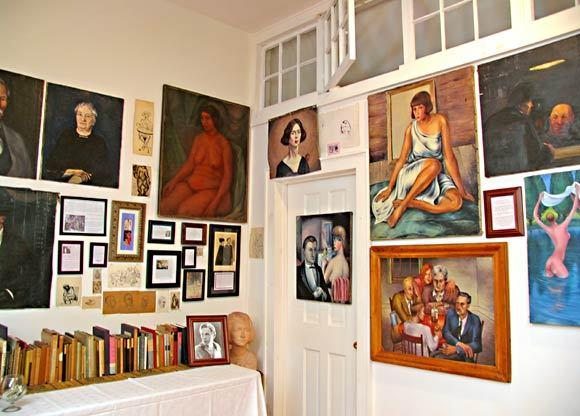The gallery at Millay's home.