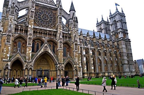 London's Westminster Abbey, venue for the wedding of Prince William and Kate Middleton on April 29, 2011, has been a top London tourist attraction for years.