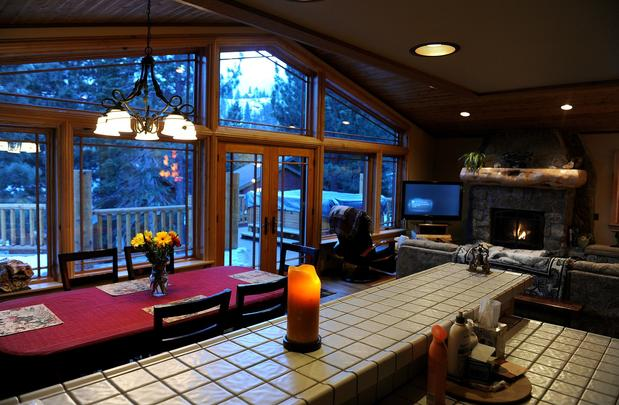 The dining area at the Swiss Chalet Bed & Breakfast Inn.