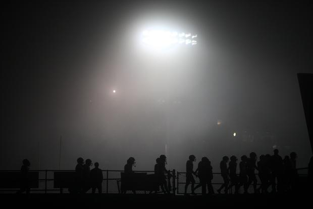 Heavy fog shrouded the Ventura High football field as Mater Dei and St. Bonaventure played a Pac-5 Division semifinal playoff game on Friday night.
