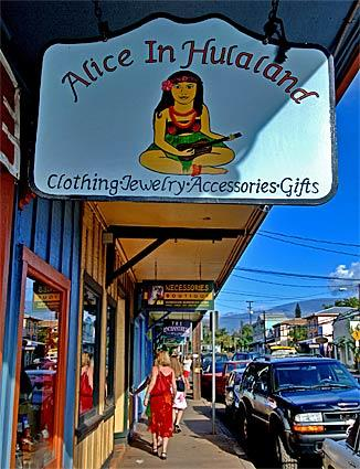Quaint streets full of small shops in the town of Paia on Maui are representative of old Hawaii, an atmosphere that locals want to maintain.