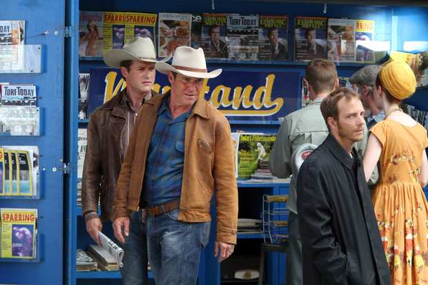 "Dennis Quaid and Jason O'Mara star in the new CBS TV show ""Vegas,"" which is re-creating the Vegas strip of the 1960s at Santa Clarita Studios."