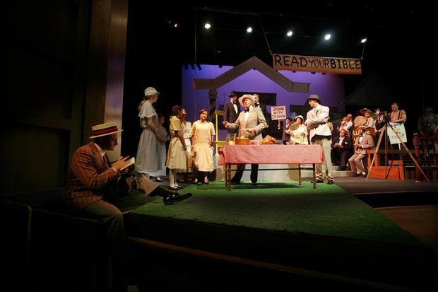 "The theater department holds a dress rehearsal for their production ""Inherit The Wind."""