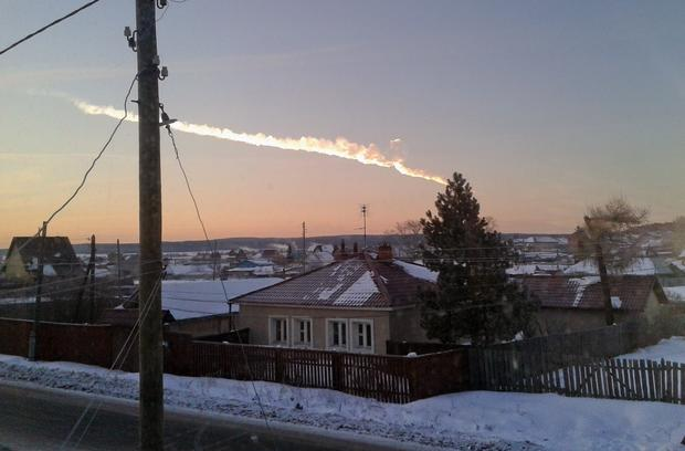 A meteor streaked across the sky above Russia's Ural Mountains on Friday morning, causing sharp explosions and reportedly injuring around 100 people, including many hurt by broken glass.