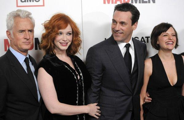 """Mad Men"" stars John Slattery, Christina Hendricks, Jon Hamm and Elisabeth Moss."