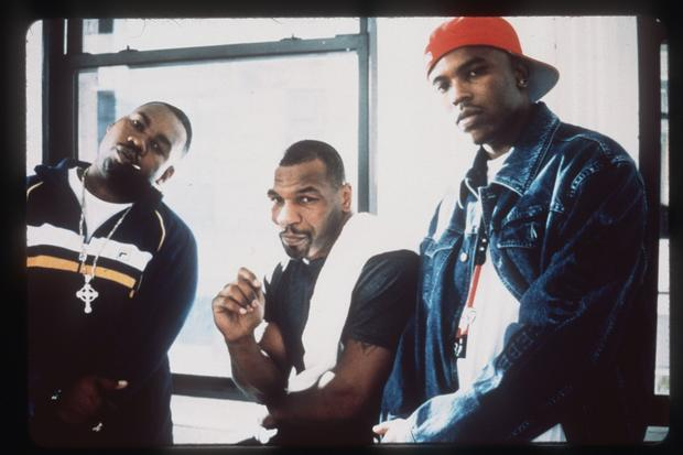 "Tyson (center) appeared as himself in James Toback's 1999 film ""Black and White,"" about white kids who become fascinated with Harlem's hip-hop culture. Although the film assembled talented actors and musicians Robert Downey Jr., Brooke Shields, Raekwon (left), Ghostface Killah, Oliver ""Power"" Grant (right) and more, it earned less than $6 million worldwide and was panned by critics.
