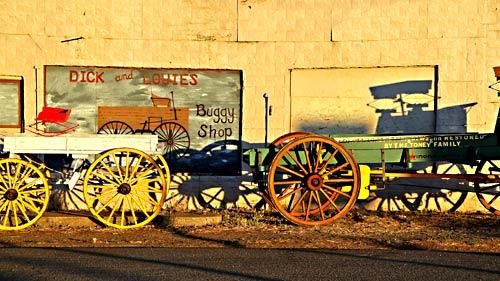 A buggy shop in the small town of Cedarville.