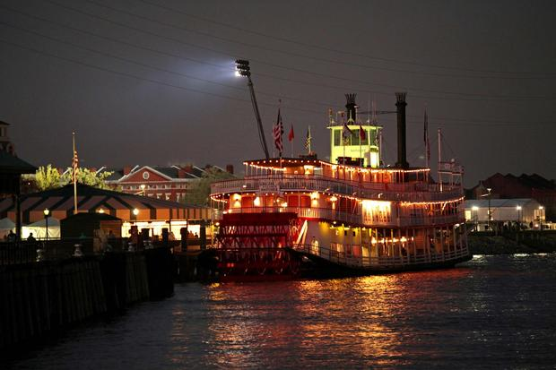 The Natchez is one of several riverboats operating along the New Orleans waterfront.