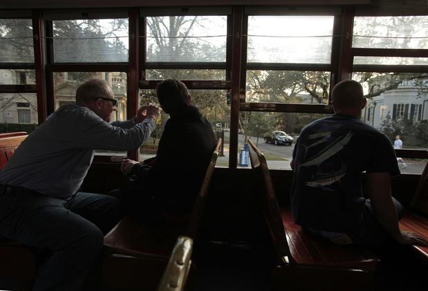 All aboard the historic St. Charles streetcar for a trip into yesteryear. The beloved green Perley Thomas streetcars rumble past Garden District mansions, Tulane and Loyola universities and Audubon Park.