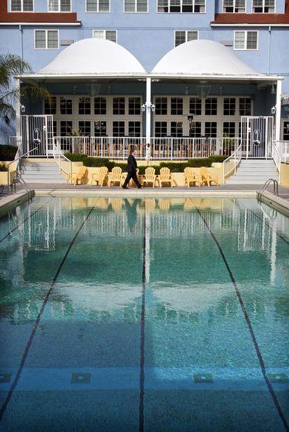 Legend has it that the pool at San Diego's Lafayette Hotel, Swim Club & Bungalows was designed by Olympic swimmer Johnny Weissmuller, a.k.a. Tarzan.