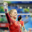 Shawn Johnson waves