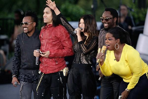 "Oprah invited the Black Eyed Peas to perform at her Season 24 kickoff party on Michigan Avenue in Chicago, but they had more than just a song and dance in store. When BEP started to sing ""I've Got a Feeling,"" the crowd of about 20,000 transformed into a <a href=""http://www.oprah.com/entertainment/Oprahs-Kickoff-Party-Flash-Mob-Dance"">flash mob</a>, and the scene stunned the queen of surprises. She cried out, ""That is the coolest thing ever!"" as the tune ended."