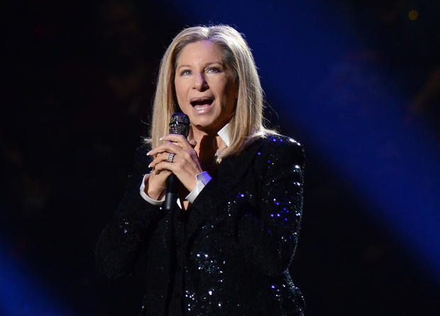 "Barbra Streisand sings ""The Way We Were."""