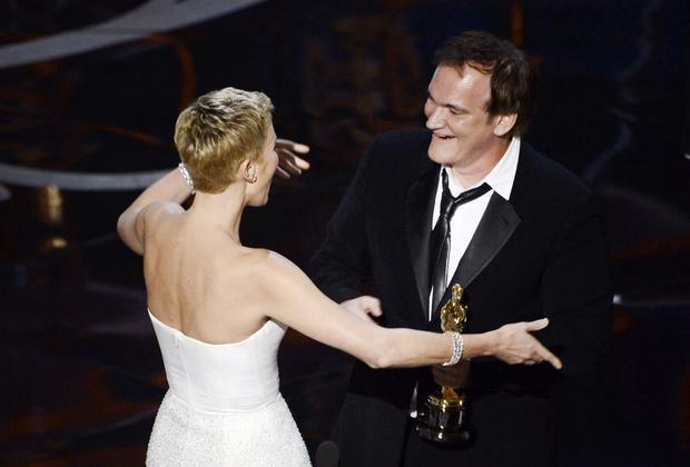 Strange bit of Hollywood trivia: Charlize Theron and Quentin Tarantino are next-door neighbors. Tarantino admitted as much when he got up to accept his Oscar for best original screenplay. Only question is: Did Charlize realize she was living next to Quentin?