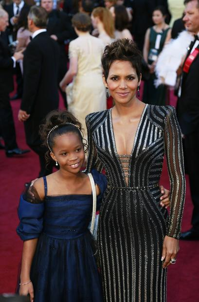 Quvenzhane Wallis, left, and Halle Berry