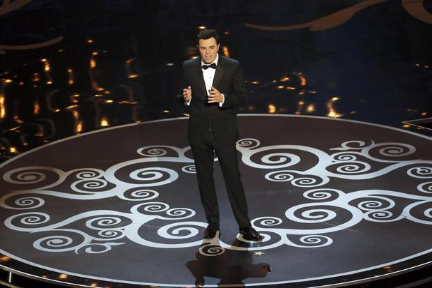 Oscar host Seth MacFarlane kicks off the 85th Academy Awards ceremony at the Dolby Theatre in Hollywood. MacFarlane ribbed nominees and previous winners.