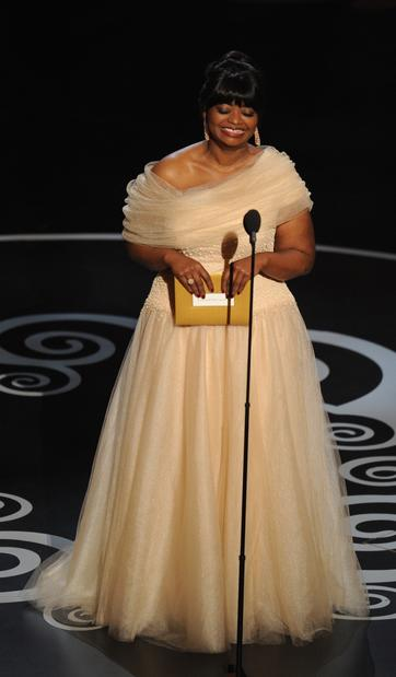 Octavia Spencer, last year's supporting actress winner, presents the award for supporting actor.
