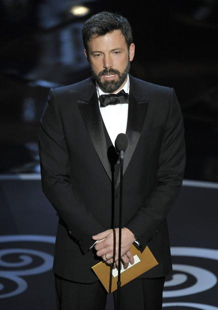 Ben Affleck presents the award for documentary feature film.