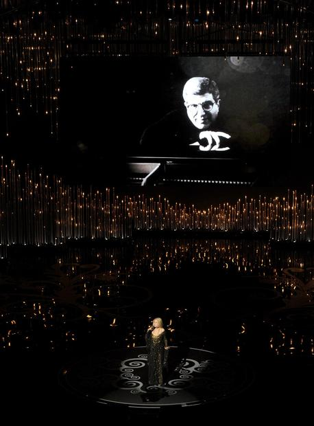 "Barbra Streisand performs ""The Way We Were"" as a tribute to its composer, Marvin Hamlisch, who died in 2012."