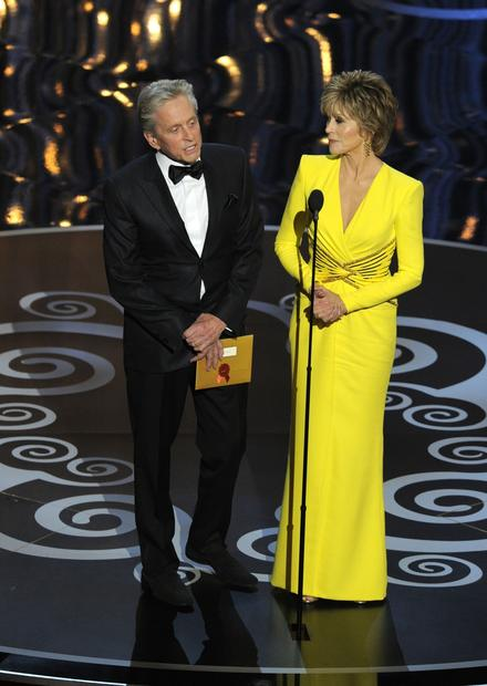Michael Douglas and Jane Fonda present the Oscar for best director.