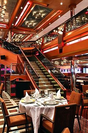 Ristorante My Way aboard Costa Cruises' Pacifica, a 3,000-passenger ship.