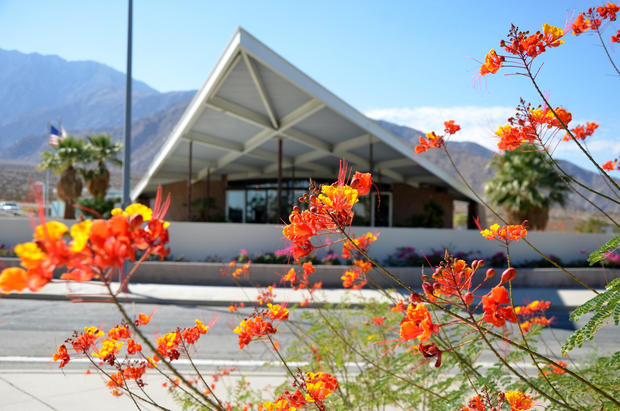On the way into Palm Springs, stop at the Palm Springs Visitors Center (formerly the Tramway Gas Station) and marvel at its midcentury modernity.
