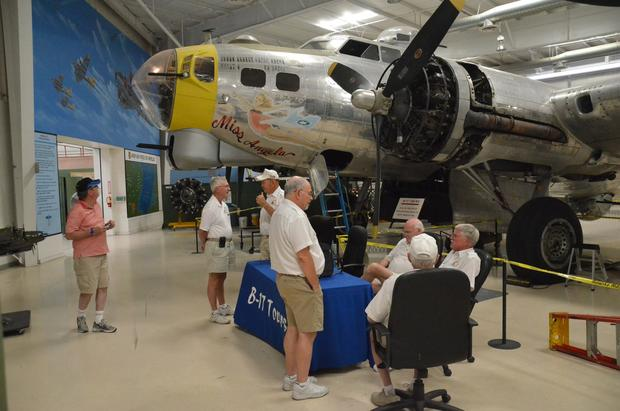 A B-17 bomber at the Palm Springs Air Museum. The museum is known for its colorful collection of World War II aircraft.