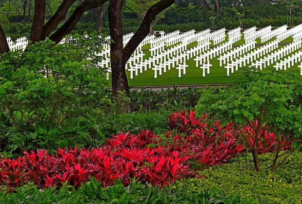 The Manila American Cemetery and Memorial honors U.S. and Filipino war dead in its 157 acres. The cemetery about 12 miles from Manila also memorializes more than 36,000 missing WWII soldiers.