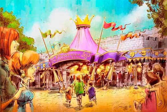 The Magic Kingdom at Walt Disney World is planning a similar Princess Fairytale Hall as part of the Florida theme park's Fantasyland makeover.