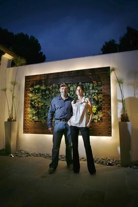 "Los Angeles artist Michel Horvat helped Beachwood Canyon homeowner Joella Thomas turn a 200-year-old Spanish door  into a living wall with hundreds of succulents and California native plants. ""I knew instantly it would make a terrific centerpiece for the courtyard,"" Horvat said. ""It was just a matter of making it work."""