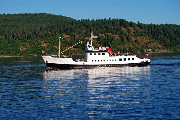 The Frances Barkley makes runs along Alberni Inlet.