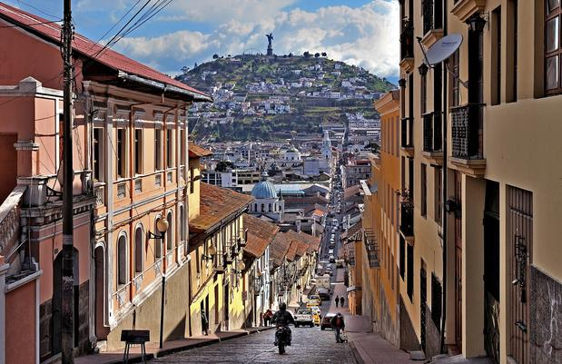 Eye-catching buildings line a street in a historic area of Quito, Ecuador. Feel like getting out of the city to do a little exploring? Tren Ecuador is making a comeback.