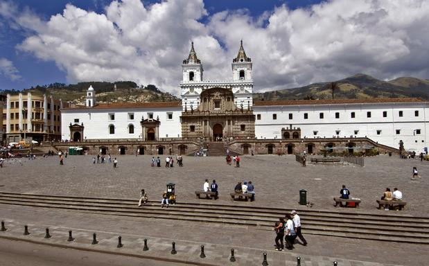 "Plaza de San Francisco was once dotted with crude vendor stalls, but in 2002, the government built a covered market for ""informal sector"" vendors and relocated them."