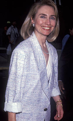 "<b>Boxed in</b><br> <br> A girlish Hillary Clinton at a Clinton/Gore party in 1992. She displayed an early affinity for the boxy jacket/knee-length skirt combo, a habit that would prove hard to shake in the next decade.<br> <br> <center><iframe width=""300"" scrolling=""no"" height=""300"" frameborder=""0"" topmargin=""0"" leftmargin=""0"" allowtransparency=""true"" src="" http://www.latimes.com/entertainment/news/galleries/la-et-rewind-hillary1992-poll,0,5812297.poll"" marginwidth=""0"" border=""0"" id=""flashvideoplayer""> </iframe></center>"