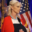 Cindy McCain, flag, cast