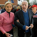 Cindy McCain, pink, leather