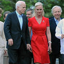 Cindy McCain, red dress