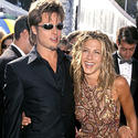 Brad Pitt, Jennifer Aniston, metallics