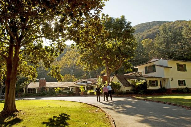 Taylor died in 1969, but the Brentwood ranch, with its 12-bedroom house, guest quarters, rolling lawns and wooded hillsides, still bears his name.