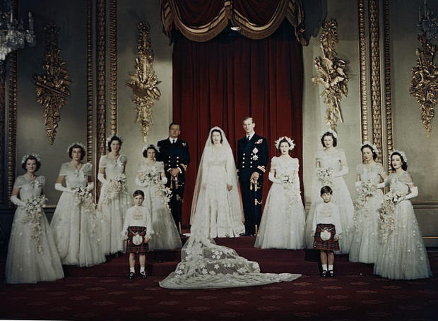 Wedding of Queen Elizabeth II and Philip Mountbatten. Nov. 20, 1947.